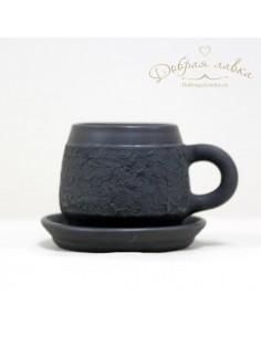 Черная кофейная пара 0,15л