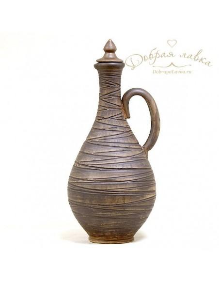 Большая глиняная бутылка 3 л
