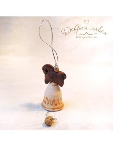 Маленький глиняный колокольчик