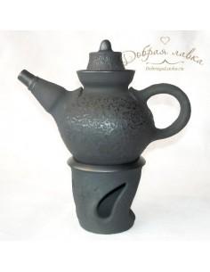 Чайник с подставкой для подогрева 0,5 л