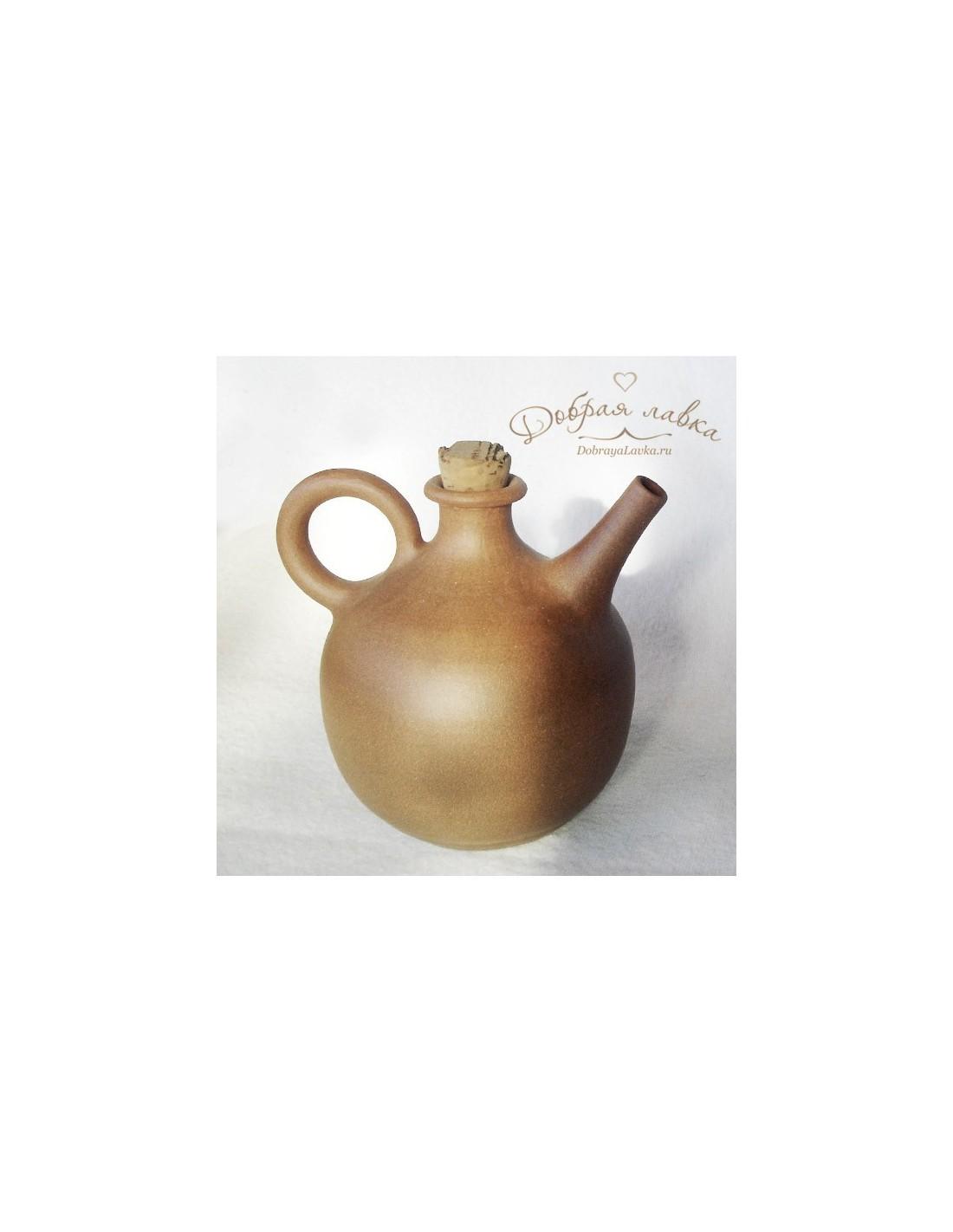 Керамическая бытылка под масло