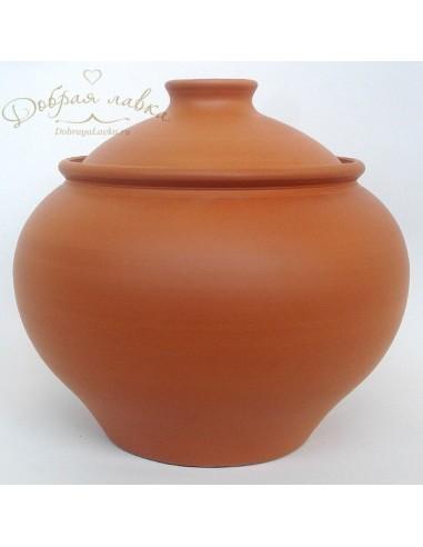 Средний глиняный горшок «Деревенский» 3 л