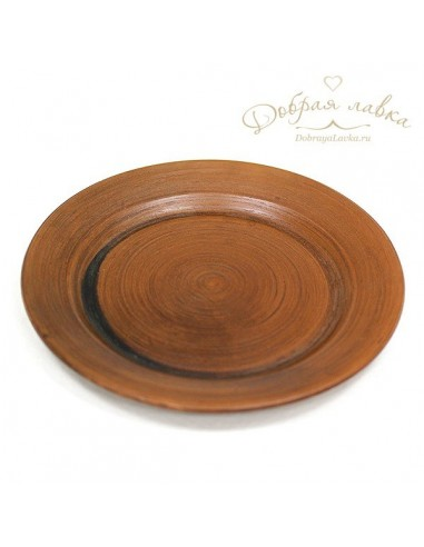 Глиняная тарелка для вторых блюд 21 см