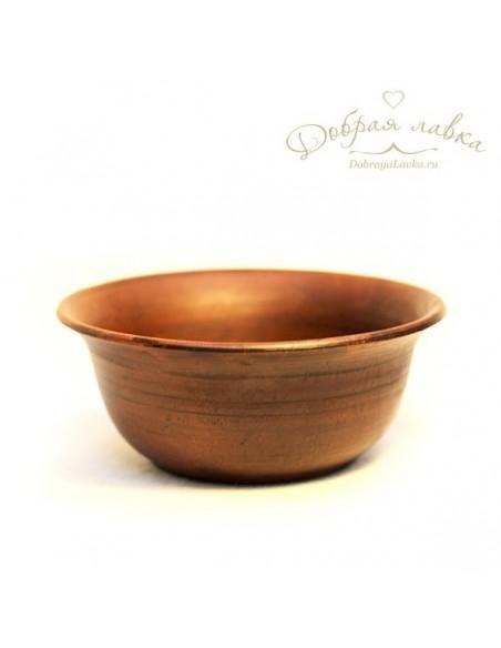 Глиняная миска суповая 16 см