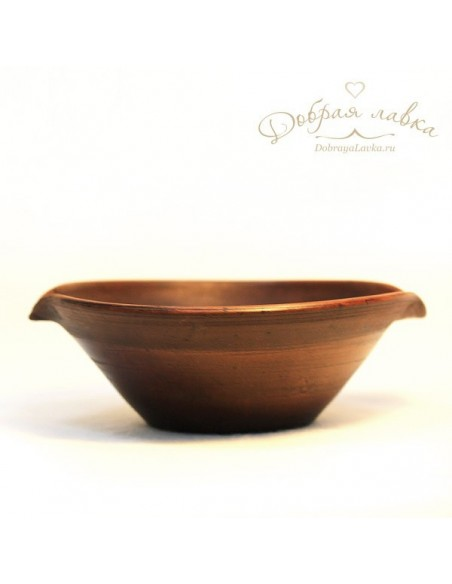 Глиняная миска соусница 20 см